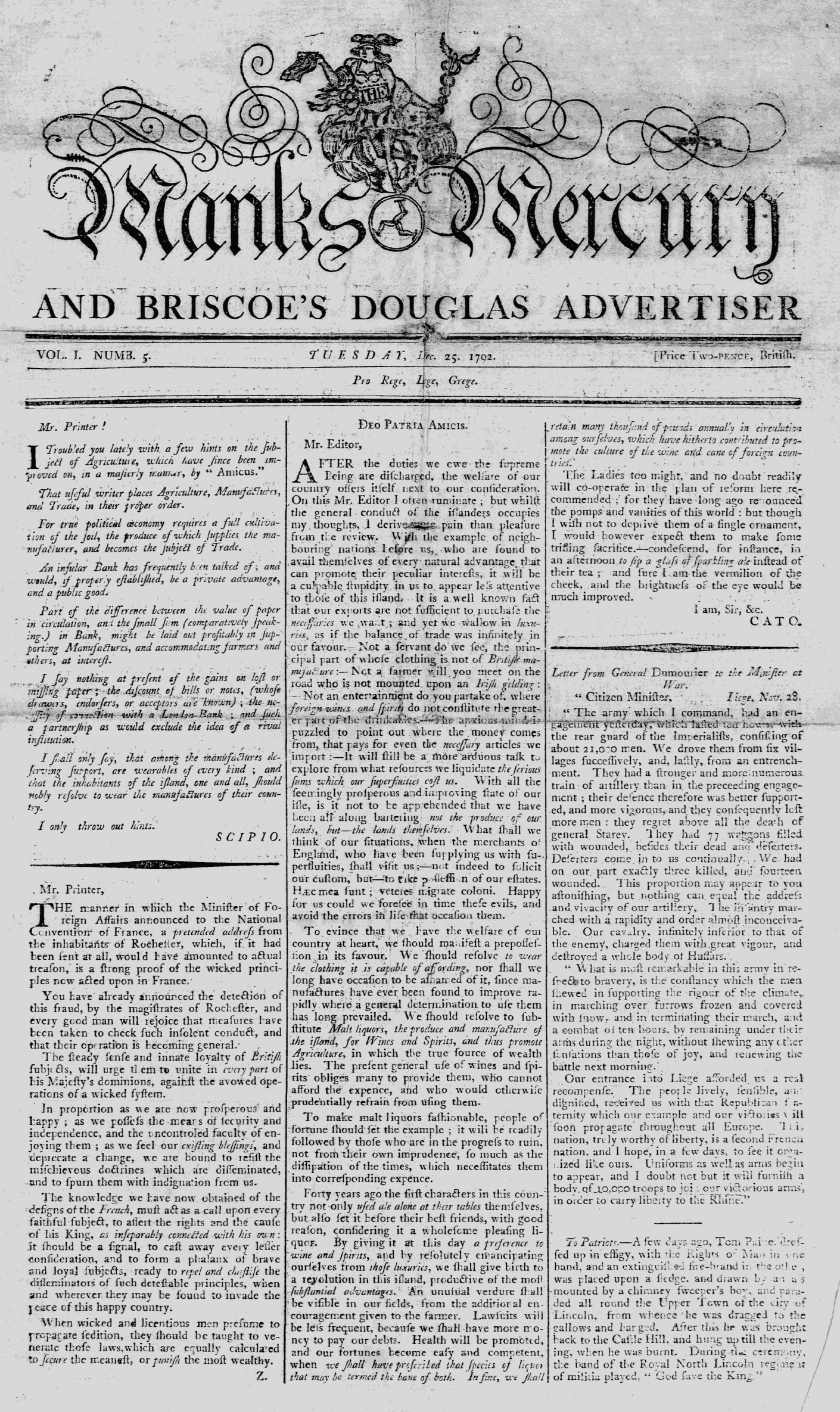 Manks Mercury 25.12.1792